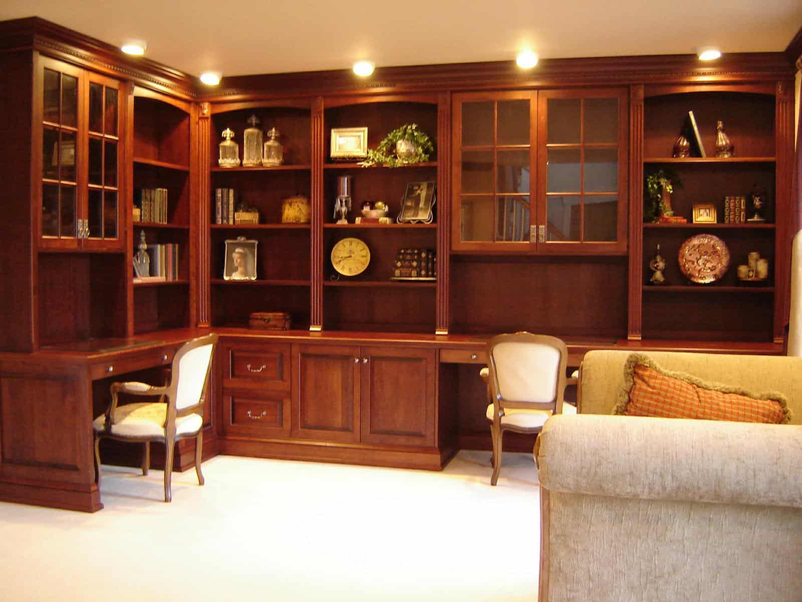 Custom home office furniture design bergen county nj Custom home office design